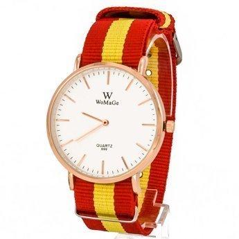 Zegarek pleciony czerwony I