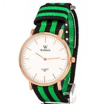 Zegarek pleciony zielony I